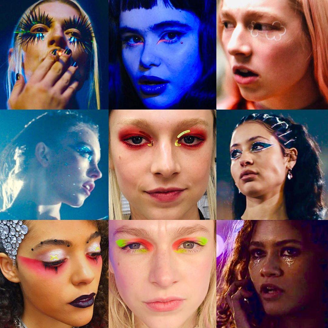 makijaż w stylu euphoria