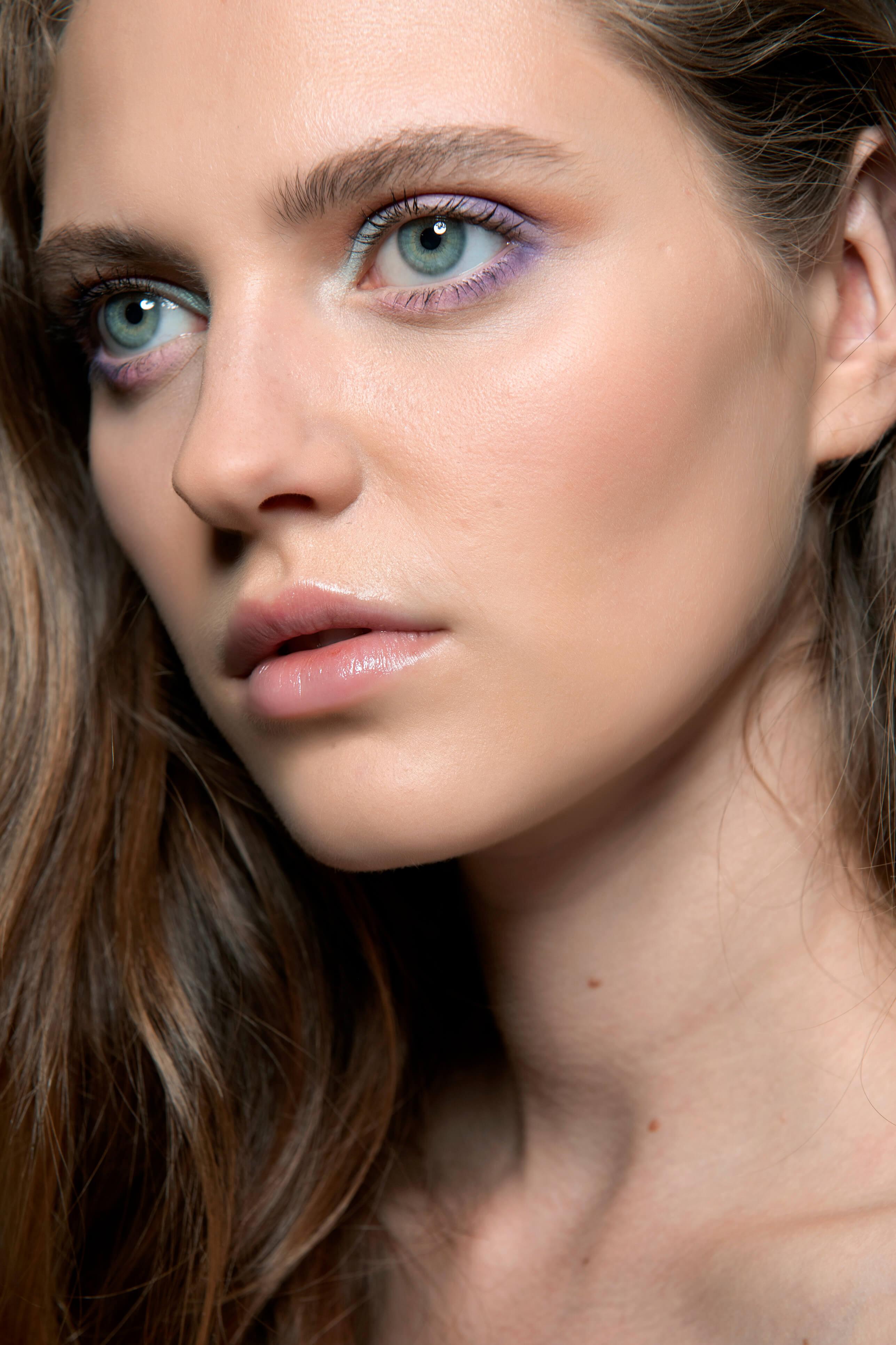kolorowy makijaż pastelowy