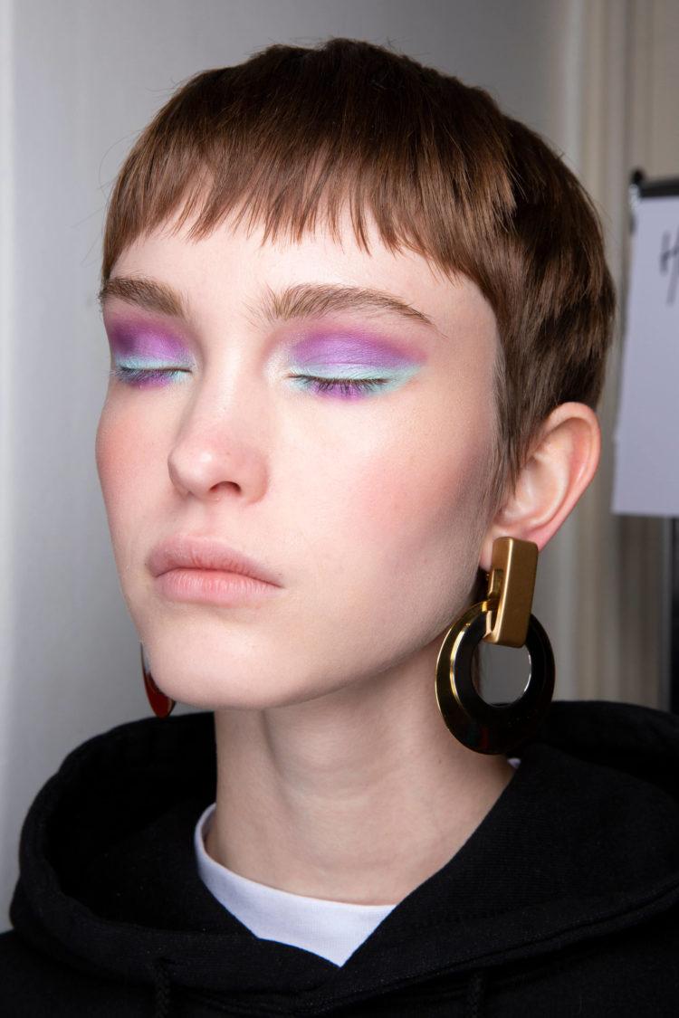 akwarelowy makijaż pastelowy